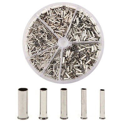 1900pcs Insulated Cable Lugs Wire End Sleeves Ferrules Kit 0.52.5mm Asso Des