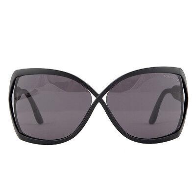 63d512bf26 42210 auth TOM FORD matte black acetate JULIANNE Sunglasses w grey lenses