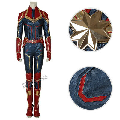 Ms.Marvel Captain Marvel Cosplay Carol Danvers Costume Jumpsuit Women Outfit