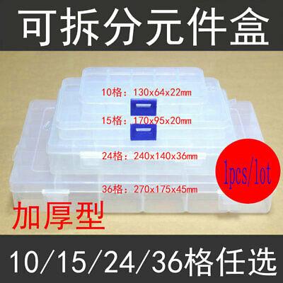 Adjustable Transparent Plastic Storage Box Electronic Components Box 10152436
