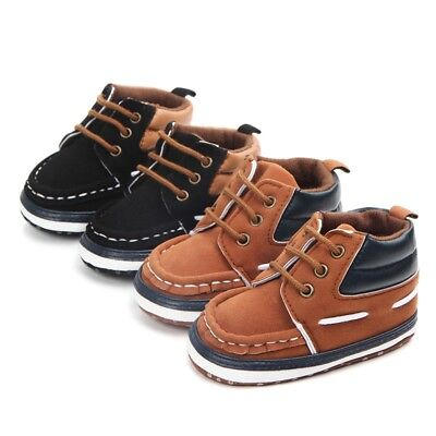Baby Boy Kids Anti-slip Sneakers Shoes Soft Sole Casual Walking Warm Crib Shoes