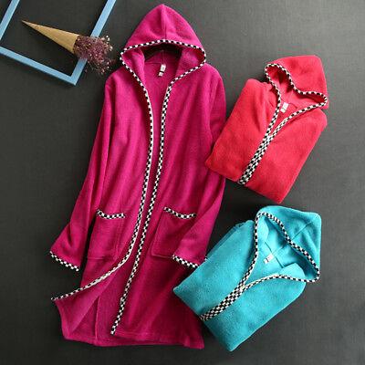 Women Coral Velvet Long Sleeve Plush Robe Velvet Bathrobe Zipper with Pockets (Orange Robe)