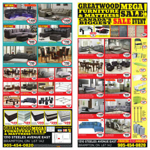 BIGGEST SALE IN GTA .CHECK OUR IN STORE FLYER .LOWEST PRICE EVER