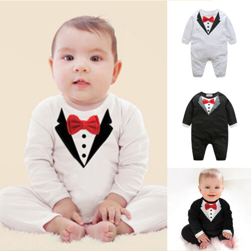 Recién Nacido Niñas Bebés Caballero Niños Trajes Mono Body Ropa 0-24m