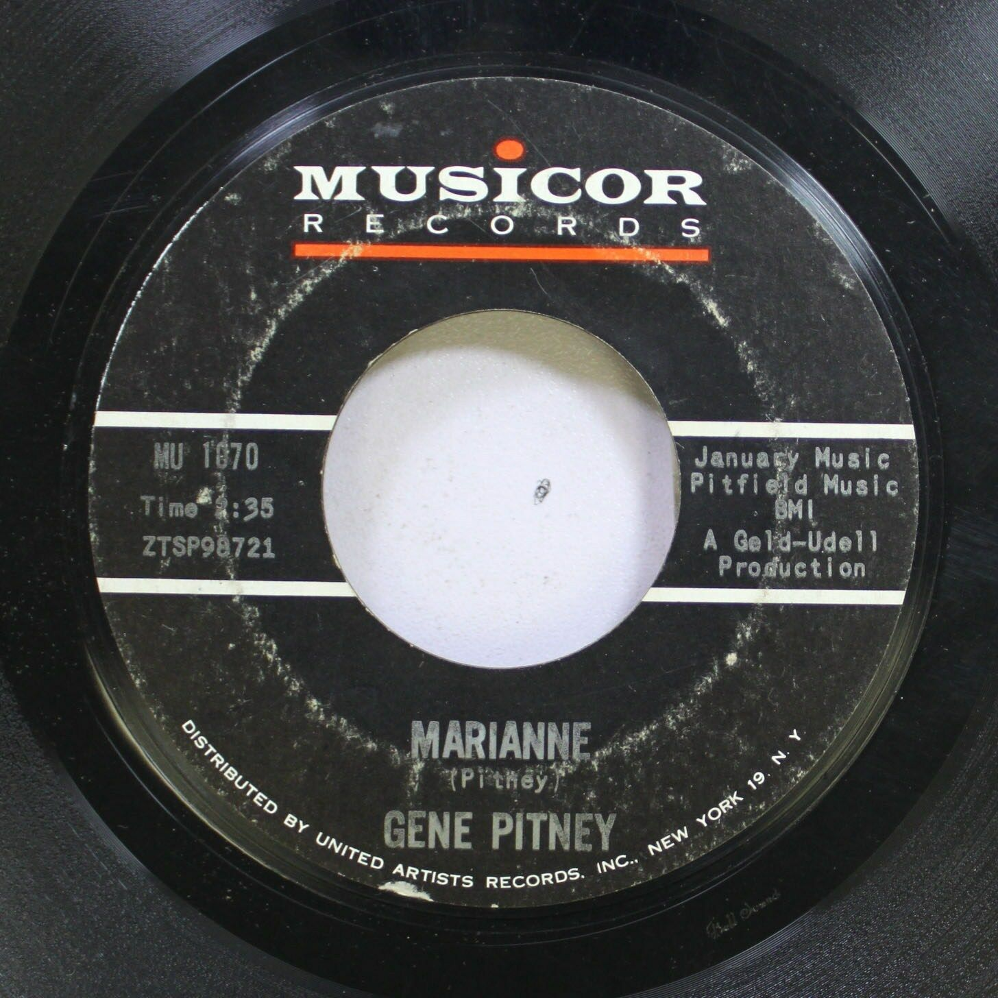 Details about 50'S & 60'S 45 Gene Pitney - Marianne / I Must Be Seeing  Things On Musicor Recor