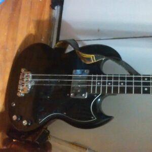 Epiphone bass guitar w/ case