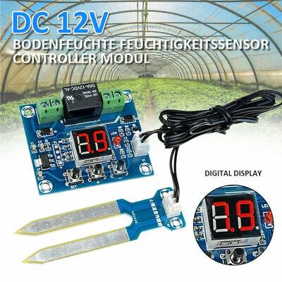 Digital 12v Soil Moisture Sensor Humidity Relay Controller Automatic Watering C