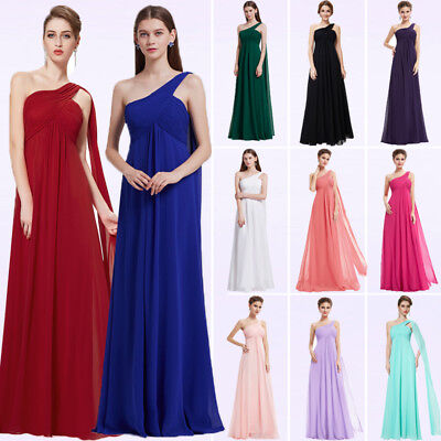 Ever-Pretty US Chiffon One-shoulder Bridesmaid Dress Homecoming Prom Gowns 09816