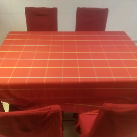 1 table and 4 chairs set