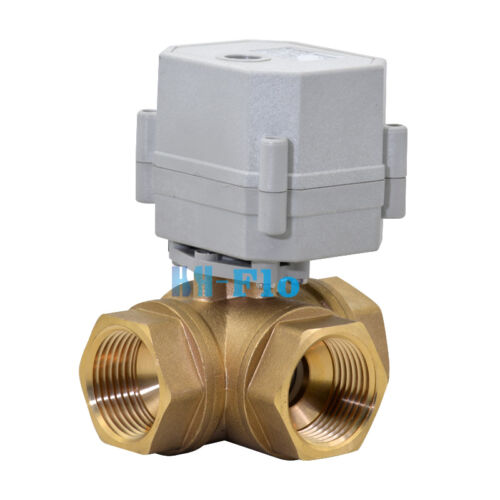 3 Way 110 2 U0026quot  To 1 U0026quot  Brass Electrical Ball Valve