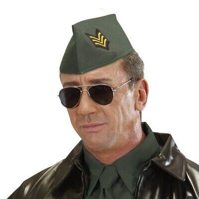 MILITÄR SCHIFFCHEN Armee Soldaten Army Hut Mütze Kappe Kostüm Party #4111