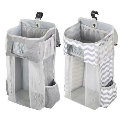 Diaper Stacker Organizer Hanging Storage Bags for Crib or Wall Baby Shower Gifts