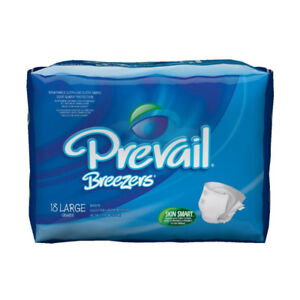Prevail Breezers Adult Diapers Incontinence Briefs, Large
