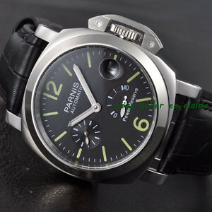 Parnis 44mm Seagull Automatic Luminous Reserve Mens Watch