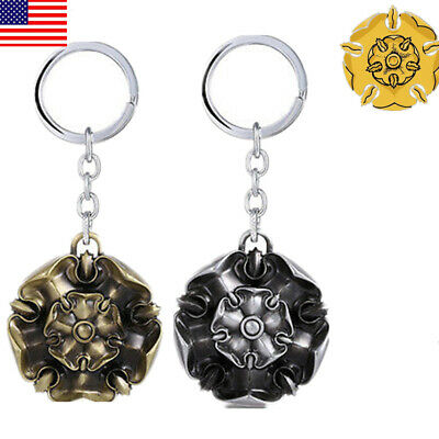USA Game of thrones House Tyrell of Highgarden Keychains Metal Predant Keyring