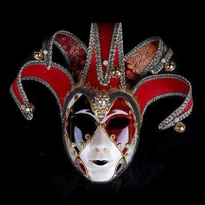 New Venetian Masquerade Masks Full Face Jester Joker Halloween Cosplay Mask - Joker Masquerade