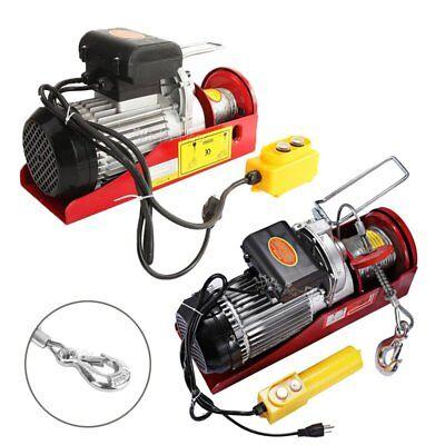 1500lb2200lb Electric Wire Hoist Winch Garage Auto Shop Overhead Lift W Remote