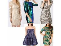 19 Brand New Women's Sequin Party Dress Mix For Sale (Sizes 8-12)