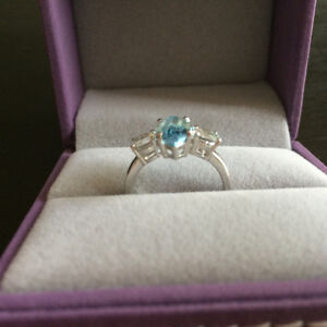 Silver Blue Topaz Ring London Ontario image 2