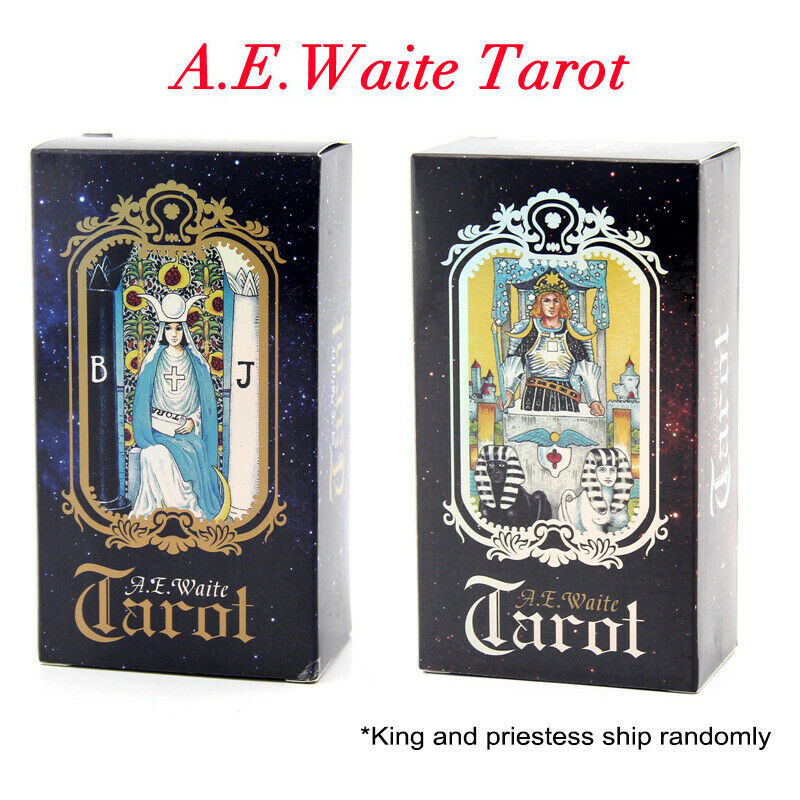78Pcs Waite Rider Tarot Deck Cards English Version Future Telling Cards Decks