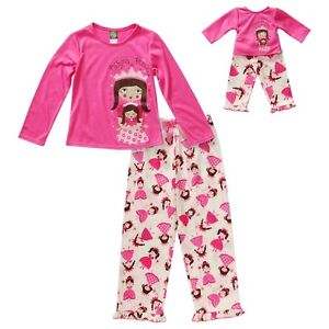 American Girl PJ Set for Real girl and Doll (size 8) London Ontario image 3