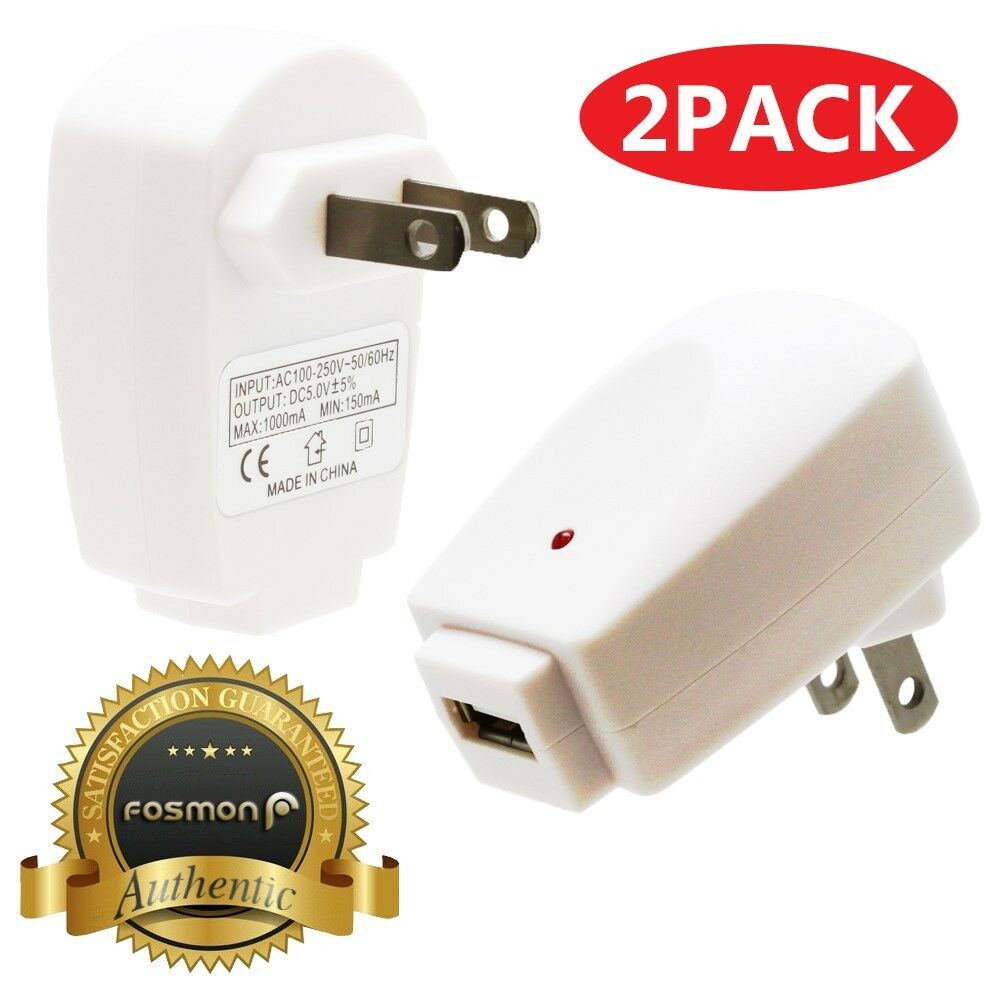 Fosmon 2X USB Wall Travel AC Phone Charger Adapter Galaxy S8