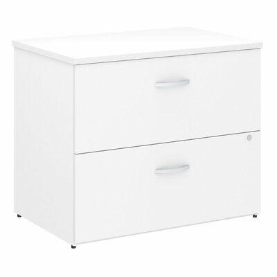 Bush Business Studio C Lateral File Cabinet In White