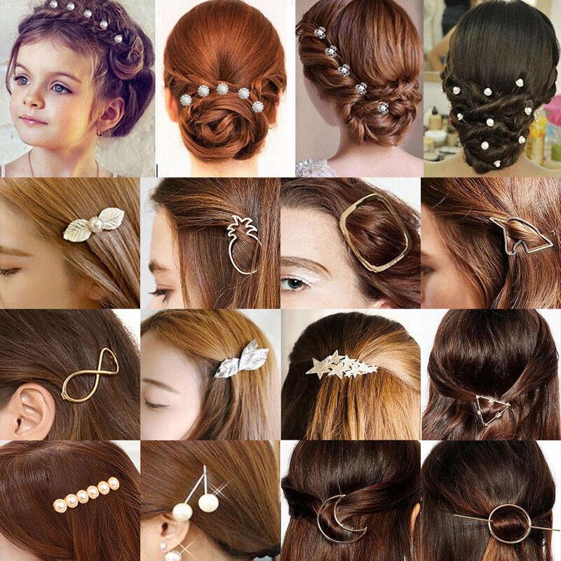 Flower Wedding Hair Pins Comb Bridal Bride Clips Crystal Acc