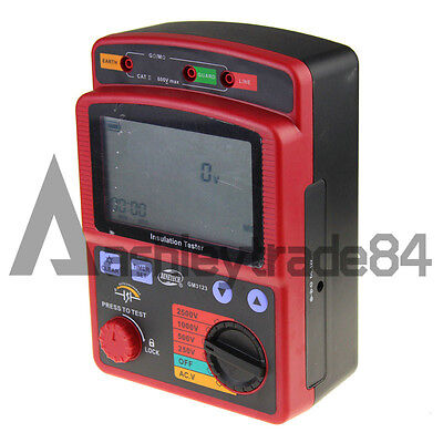 Ohm Insulation Resistance Tester Meter Megger Gm3123 High Voltage 2.5kv 99.9g