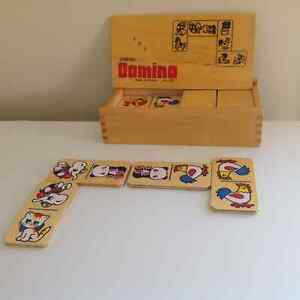 WOODEN DOMINO GAME FOR KIDS