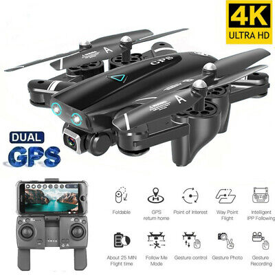 Best Camera Drone GPS 4K 1080P HD Dual Camera Follow Me Quadrocopter FPV Drone