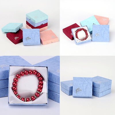 12pc Mixed Color Valentines Day Gifts Boxes Packages Cardboard Bracelet Box Xmas