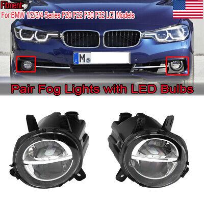 2x Fog Light Lamps Left + Right Side For BMW F20 F30 F22 F32 320i 328i 335i 116i