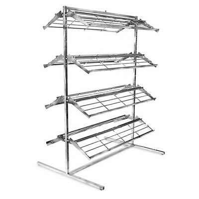 66h X 48w Double Sided T Style Shoe Rack Display Fixture Holds 60-80 Shoes