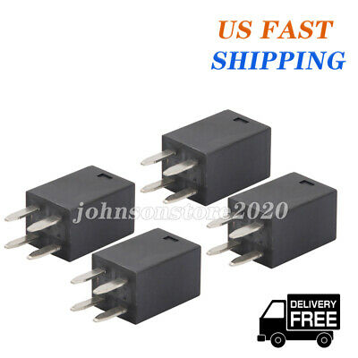4x 12v 4 Pin Micro Relay Spdt 3520 Amp Iso 280 Automotive Relay For Song Chuan