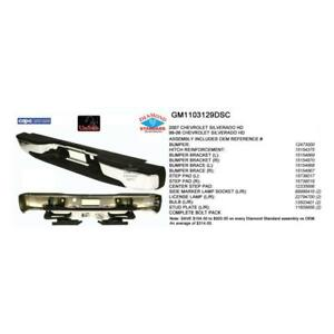 1999-2006 Chevrolet Pickup Chevy Silverado Classic Rear Step Bumper Assembly - CAPA Certified ®