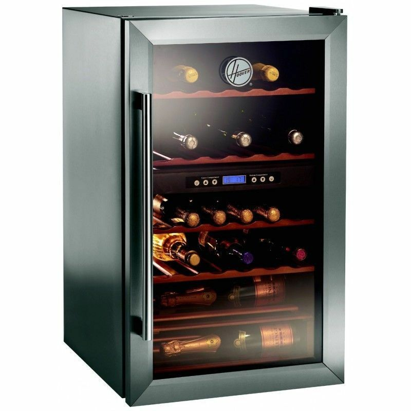 Hoover Hwc2335x Dual Zone 33 Bottle Wine Cooler Stainless