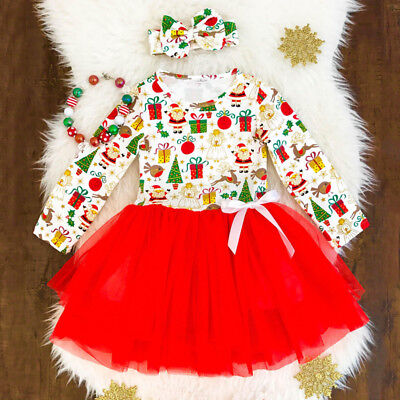 Princess Dress Outfit - USA Kids Toddler Baby Girl Princess Lace Tutu Dress Party Skirt +Headband Outfit