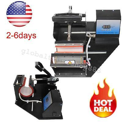 Dual Digital Heat Press Transfer Sublimation For Cup Coffee Mug Device From Usa