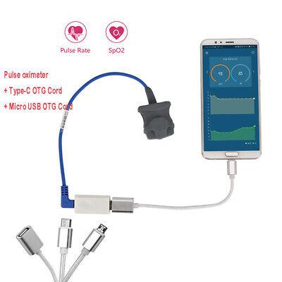 Usb Finger Pulse Oximeter Spo2 Heart Rate Monitor Blood Oxygen Meter Data Cord