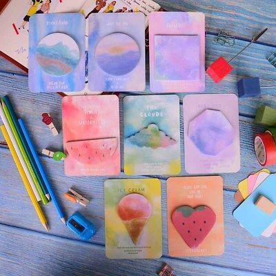 Fantastic Watercolor Geometric Self-adhesive Memo Pad Sticky Notes Bookmark Hc