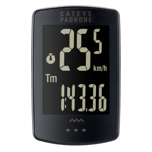 Cateye Padrone - Stealth Black - Large Display Wireless Bike Computer Road/MTB