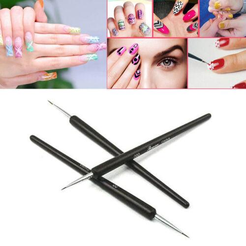New 3pcs Nail Art Gel Design Pen Painting Polish Brush Dotting Drawing Tool Set
