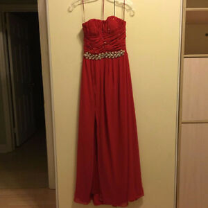 Selling Custom Made Chiffon Evening Gown with Crystals