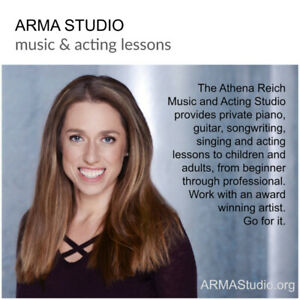 Online Music and Acting lessons for all ages!