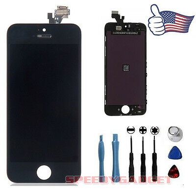 Black LCD Lens Touch Screen Display Digitizer Assembly Replacement For iPhone 5 on Rummage