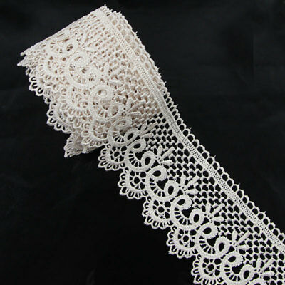 3 Yards Polyester Tan Applique Venise Lace Craft Embellishments Sewing Trims for sale  Shipping to Canada
