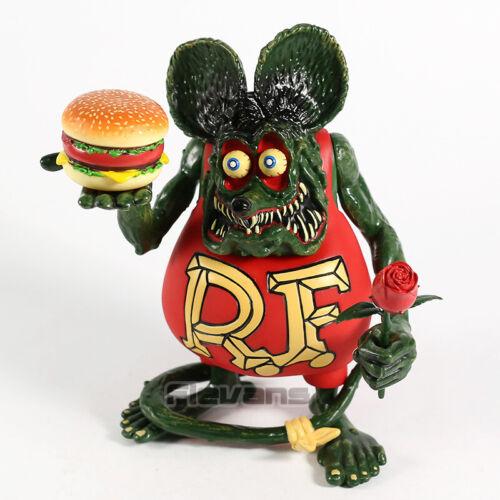 Rat Fink Hamburger & Rose PVC Action Figure Toy Chird Gift