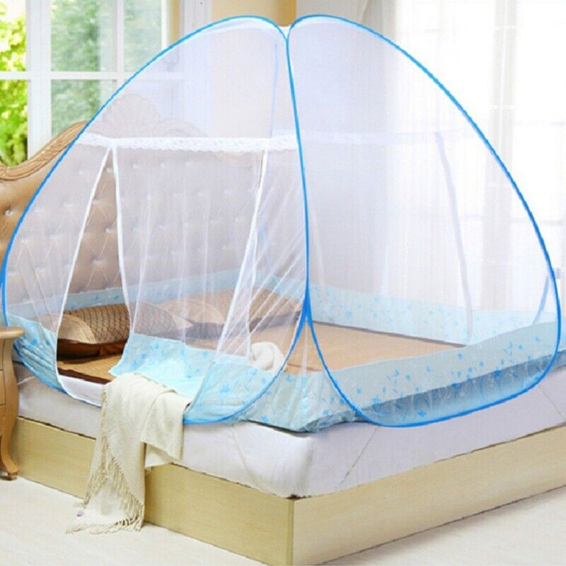 Portable Automatic Folding Mosquito Net Canopy Insect Bed Netting Camping Tent