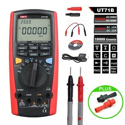 Uni-t Ut71b 20000 Count Digital Multimeter Usb Interface Tester Meter Ture Rms